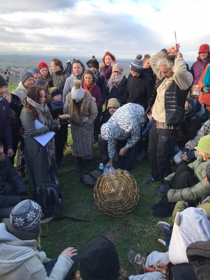 The Earth Resonance Ceremony at Glastonbury Tor